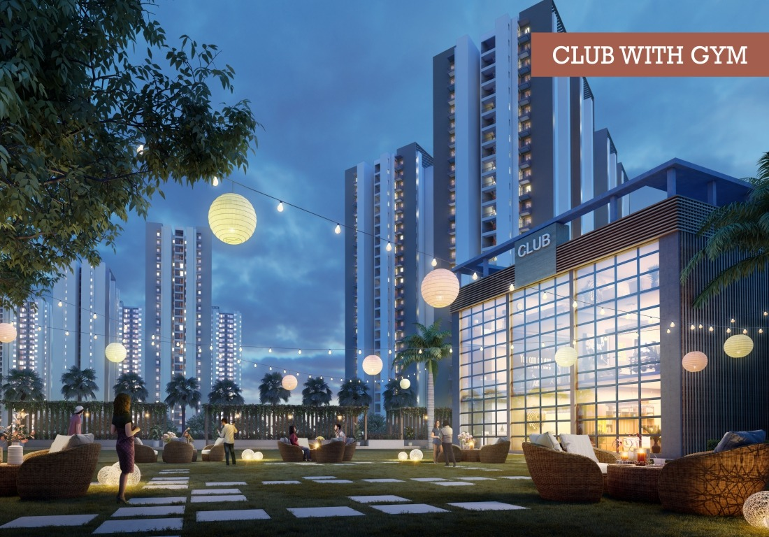 Club House With GYM - Affordable Housing Lok Awas Mohali