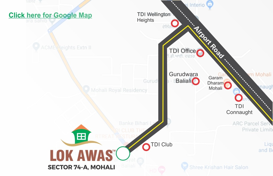 Location Map - Lok Awas Mohali