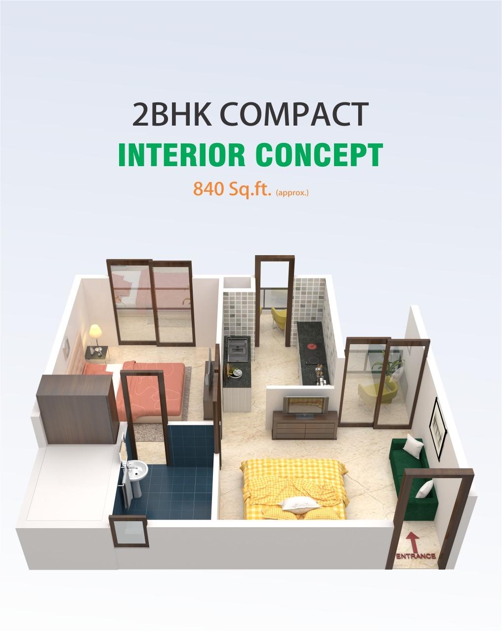 2 BHK Compactv- 22.90 Lakhs